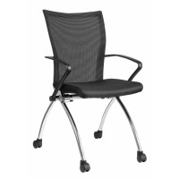 ErgoSit conference chair with rollers, Black